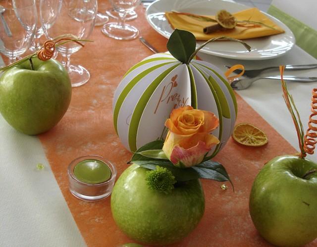 Décoratrice Mariage Nancy Lorraine orange et vert