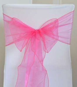 LOCATION FLOTS ORGANZA FUSHIA