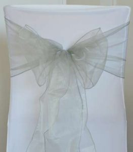 LOCATION flots organza gris