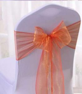 LOCATION FLOTS ORGANZA ORANGE