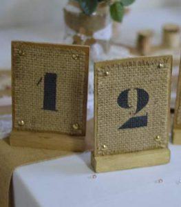 location numero de table en jute lorraine