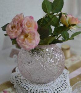 location vase boule rose romantique