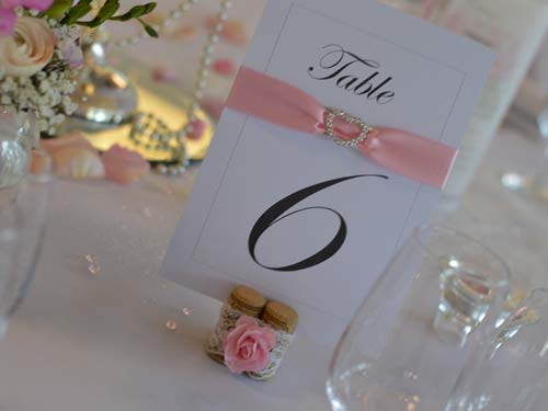 decoration mariage rose pale griffe deco