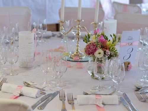 decoration mariage romantique rose pale griffe deco