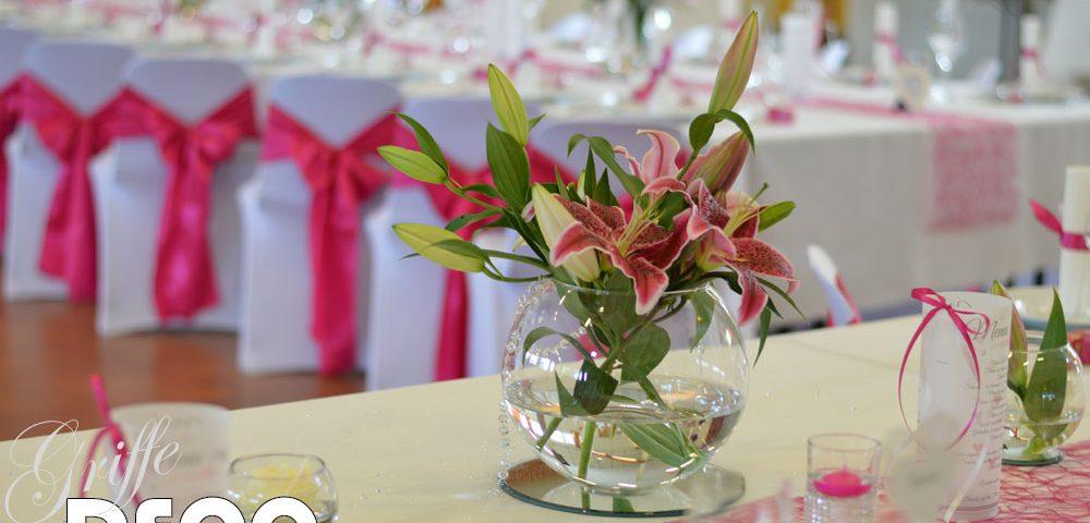 decoration mariage blanc et fushia