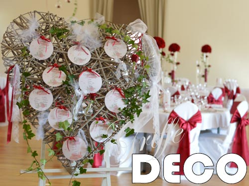 decoration mariage rouge bordeau par griffe deco