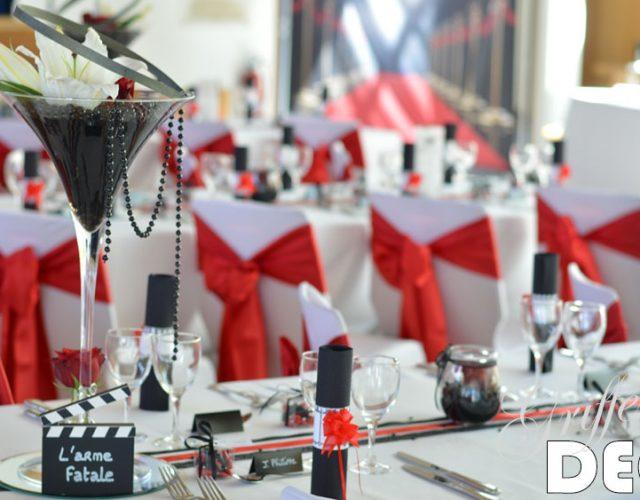 decoration mariage theme cinema par griffe deco