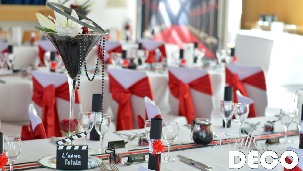 decoration mariage theme cinema par griffe deco