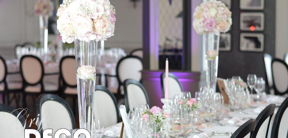 decoration mariage rose poudre griffe deco