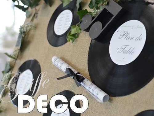 Décoration mariage champêtre thème musique