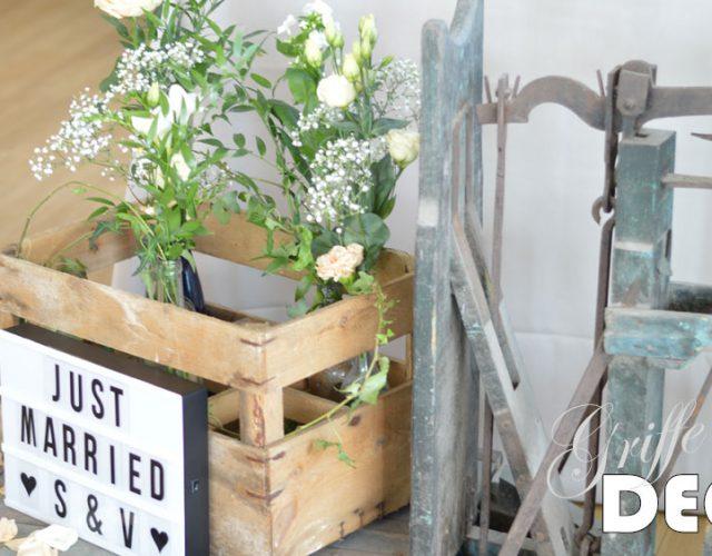 Mariage chic et vintage par griffe deco nancy