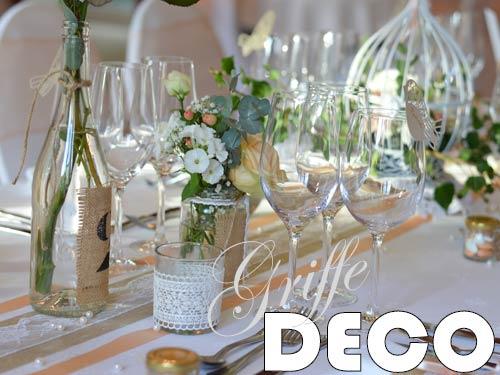 Décoration mariage abricot champêtre