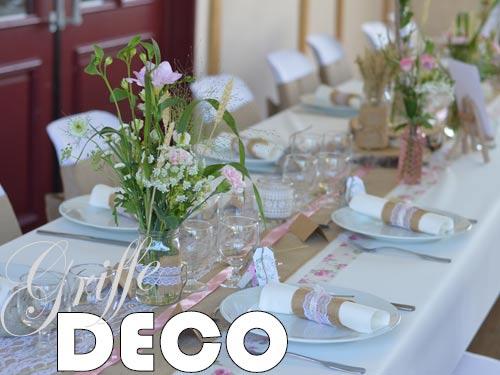 Décoration mariage champêtre liberty par griffe deco