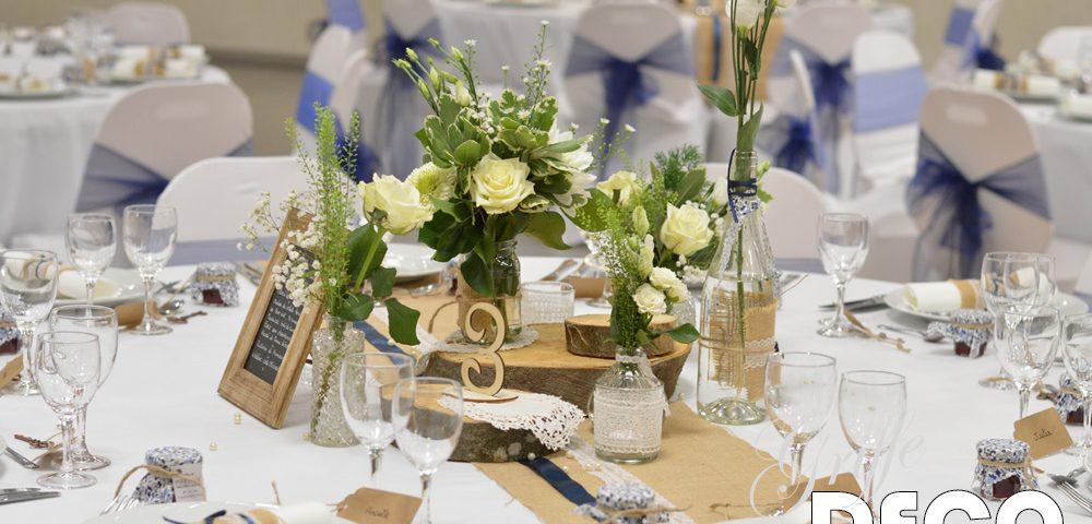 Mariage champêtre vintage en bleu marine