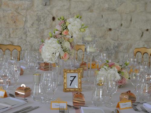 Mariage chic rose et abricot doré