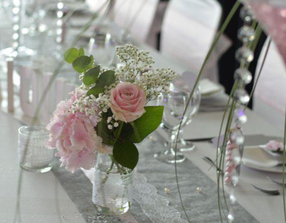 Mariage rose romantique (salle Benney)
